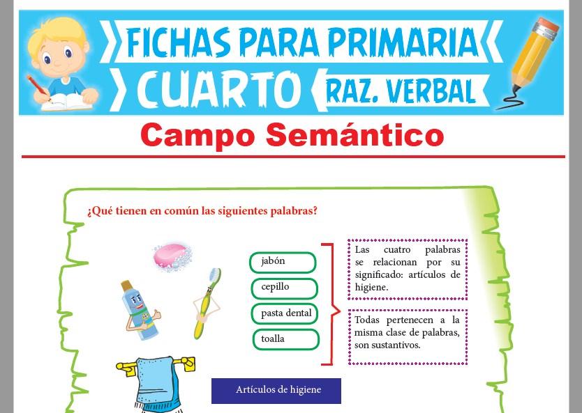 Campo Semántico Ejercicios para Cuarto Grado de Primaria – 2019