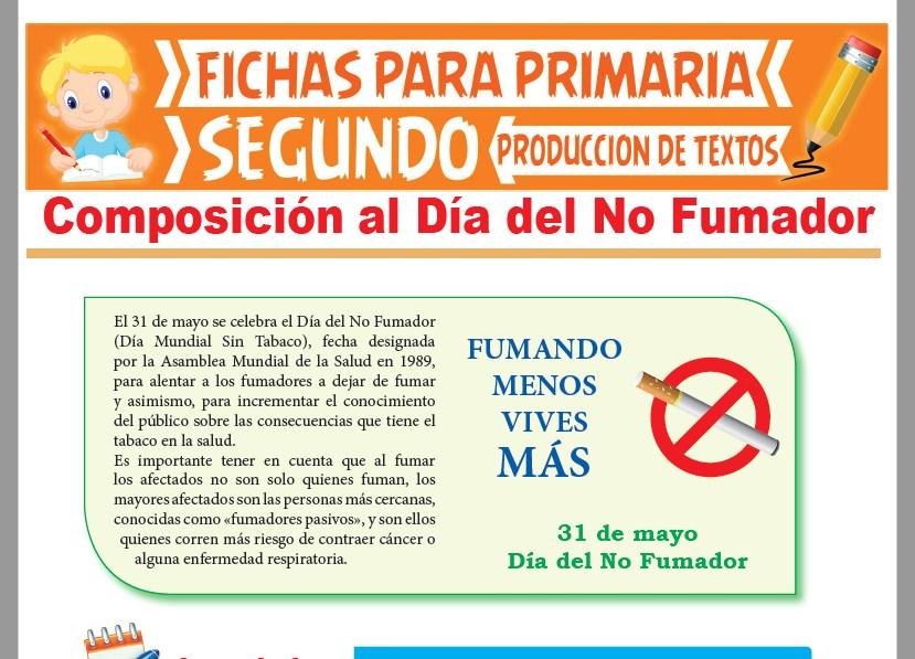 Ficha de Composición al Día del No Fumador para Segundo Grado de Primaria