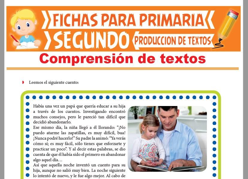 Ficha de Comprensión de Textos para Segundo Grado de Primaria