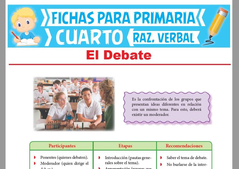 Ficha de Concepto del Debate para Cuarto Grado de Primaria