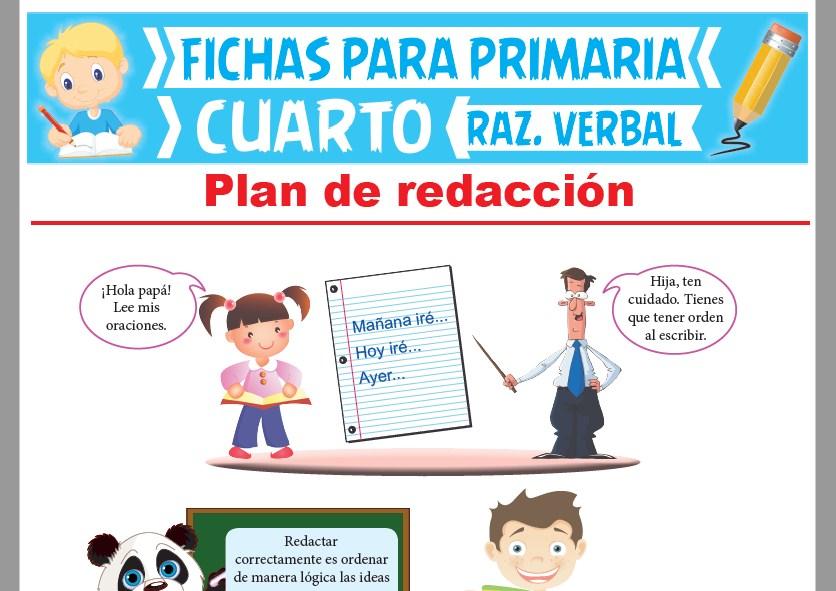Ficha de Criterios del Plan de Redacción para Cuarto Grado de Primaria