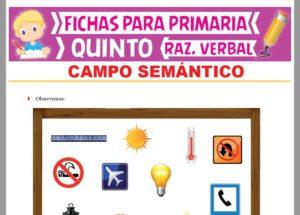 Ficha de Definición de Campo Semántico para Quinto Grado de Primaria