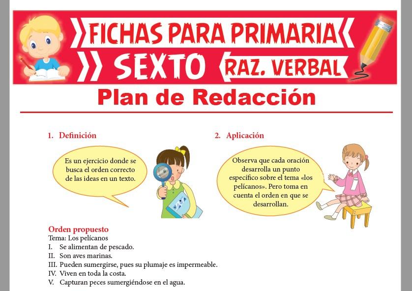 Ejercicios De Plan De Redacción Para Sexto Grado De Primaria 2021