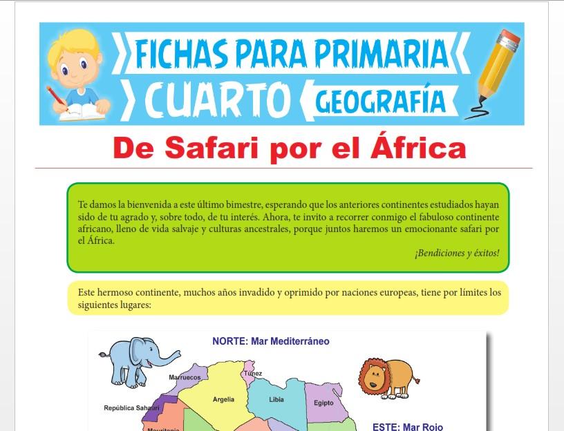 Ficha de El Continente Africano para Cuarto Grado de Primaria