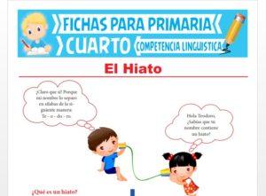 Ficha de El Hiato para Cuarto Grado de Primaria