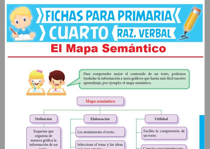 Ficha de El Mapa Semántico para Cuarto Grado de Primaria