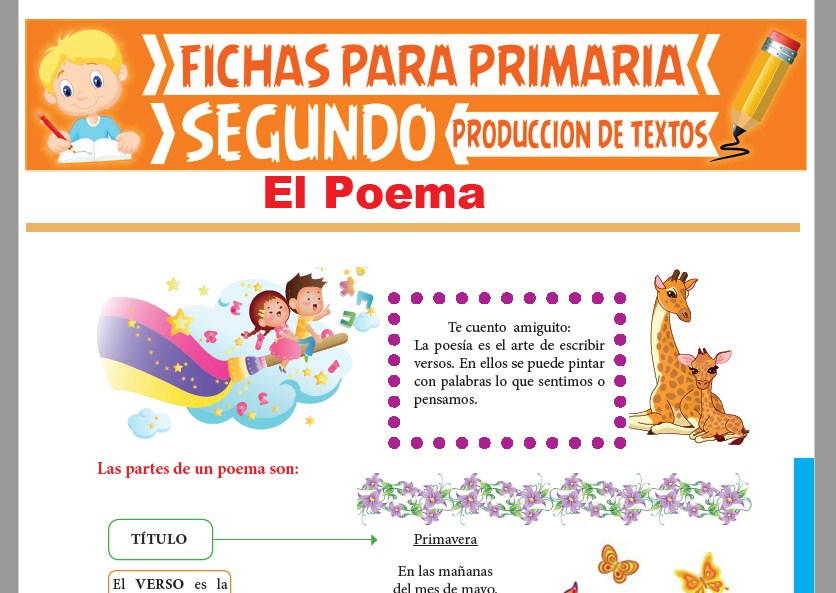 Ficha de El Poema para Segundo Grado de Primaria