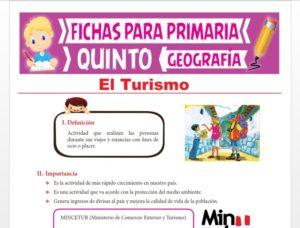 Ficha de El Turismo para Quinto Grado de Primaria
