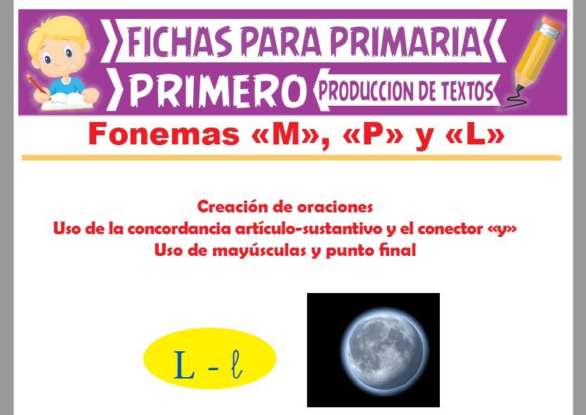 Ficha de Fonema L para Primer Grado de Primaria