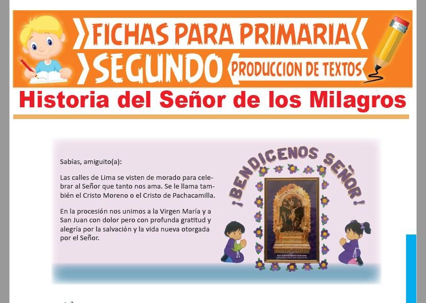 Ficha de Historia del Señor de los Milagros para Segundo Grado de Primaria