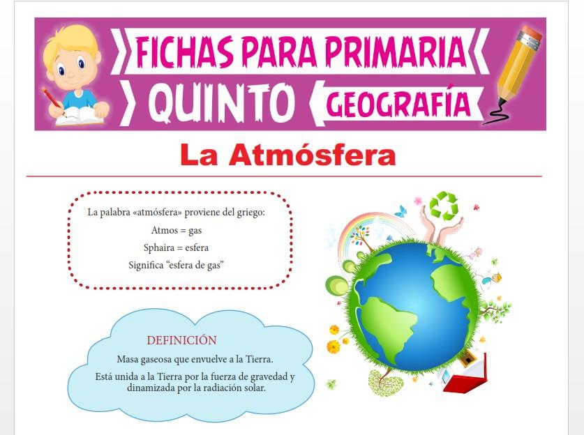 Ficha de La Atmósfera para Quinto Grado de Primaria