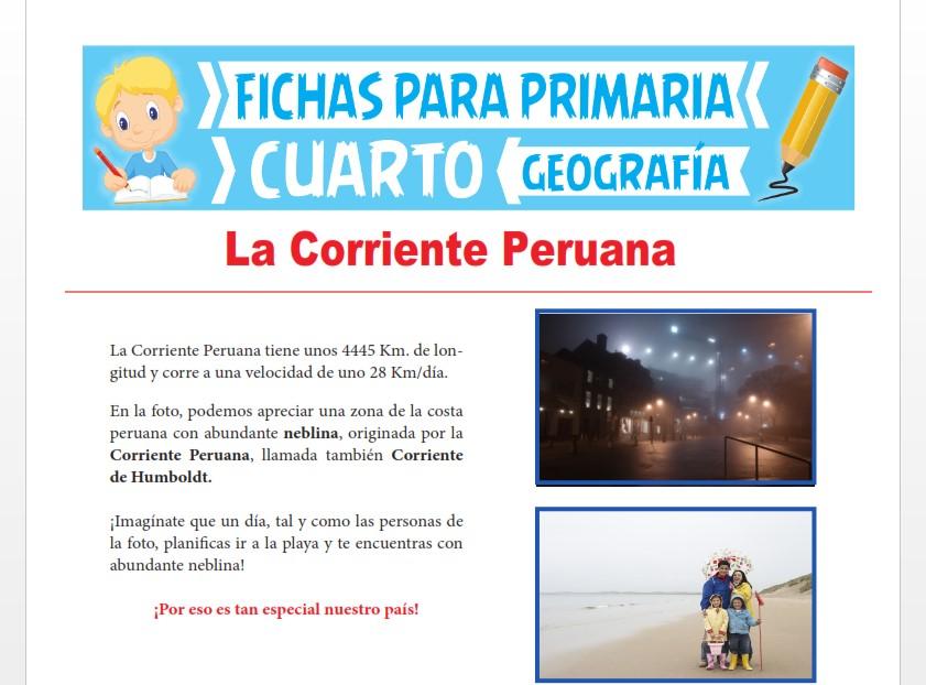 Ficha de La Corriente Peruana para Cuarto Grado de Primaria