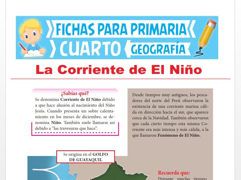 Ficha de La Corriente de El Niño para Cuarto Grado de Primaria