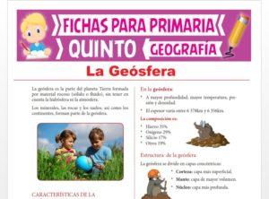 Ficha de La Geósfera para Quinto Grado de Primaria