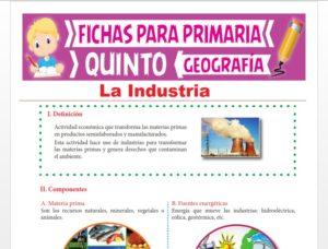 Ficha de La Industria para Quinto Grado de Primaria