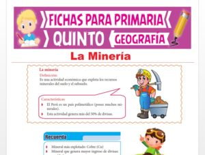 Ficha de La Minería para Quinto Grado de Primaria