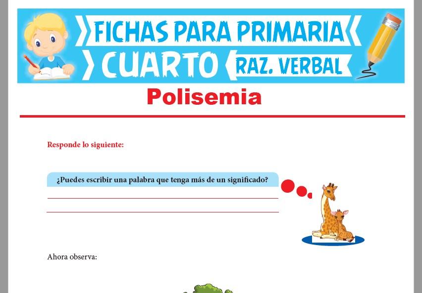Ficha de La Polisemia para Cuarto Grado de Primaria