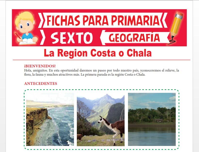 Ficha de La Región Costa o Chala para Sexto Grado de Primaria