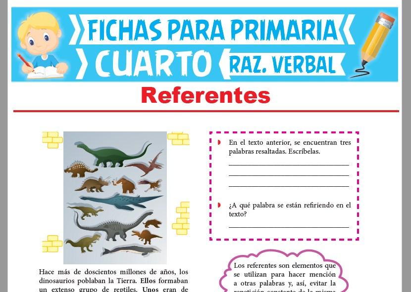 Ficha de Los Referentes para Cuarto Grado de Primaria