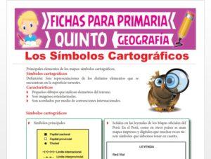Ficha de Los Símbolos Cartográficos para Quinto Grado de Primaria