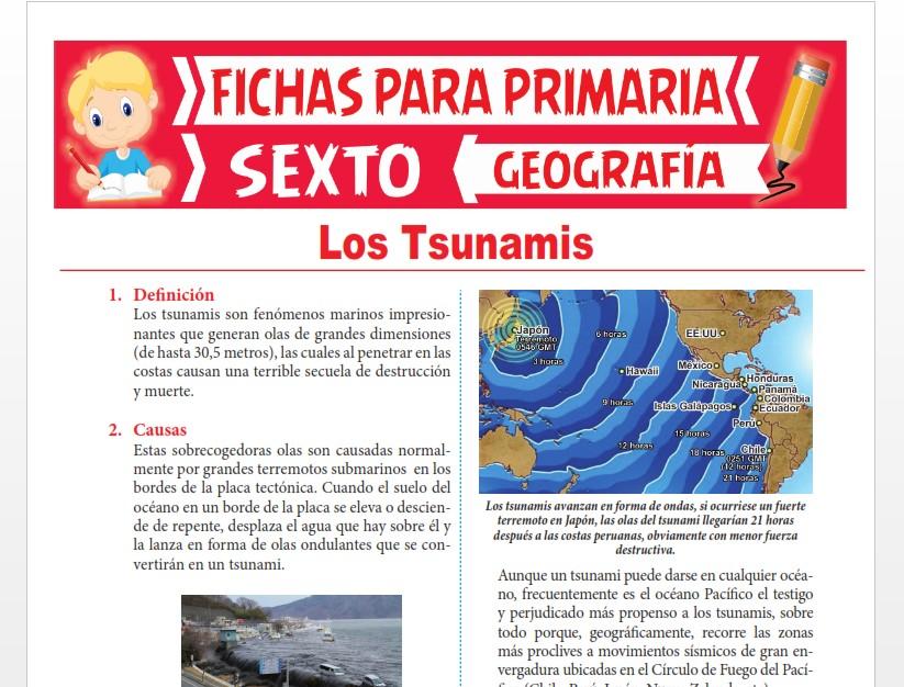 Ficha de Los Tsunamis para Sexto Grado de Primaria