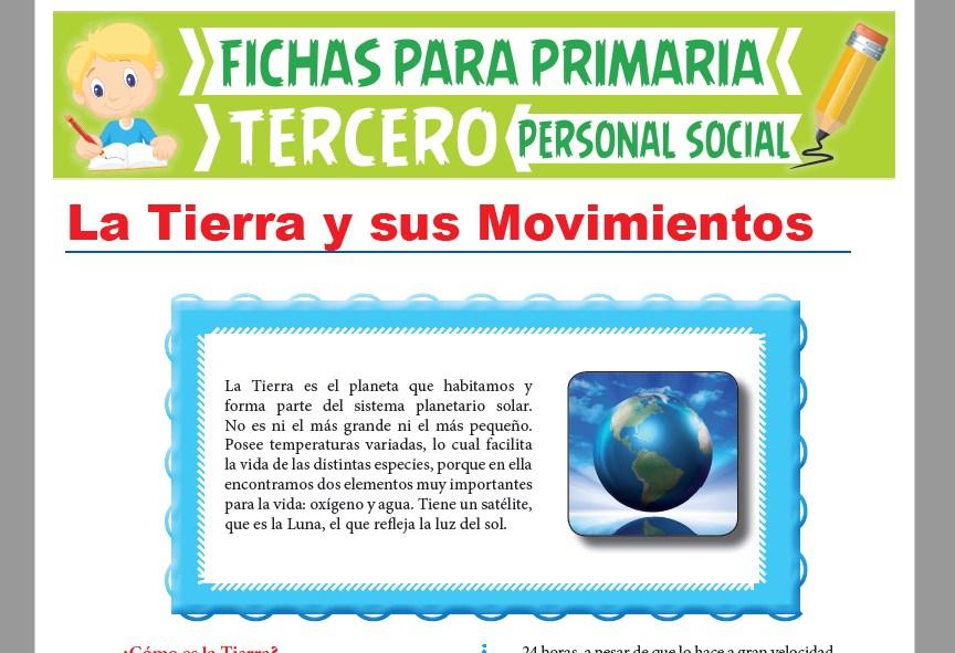 Ficha de Movimientos de la Tierra para Tercer Grado de Primaria