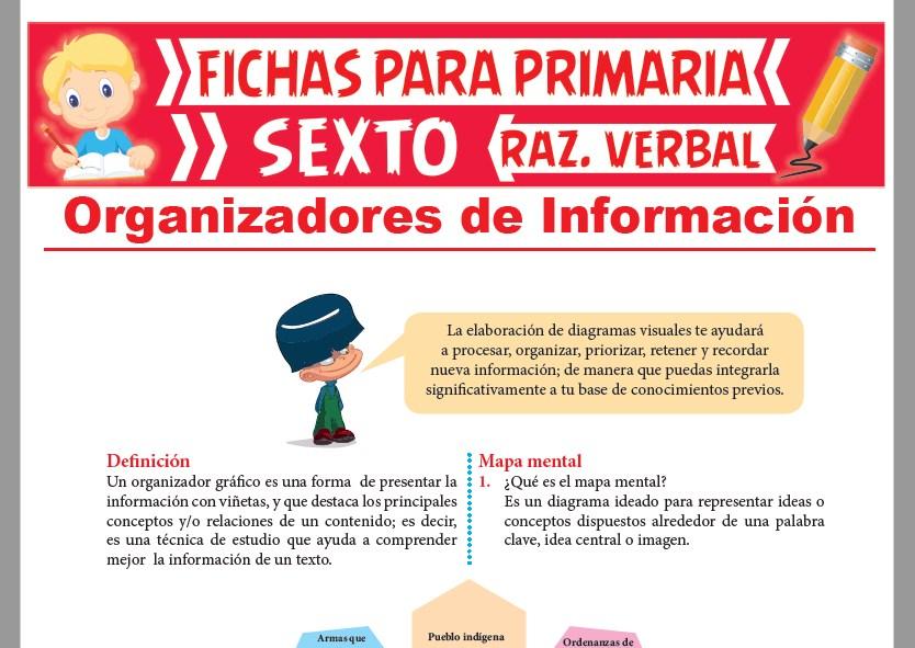 Ficha de Organizadores de Información para Sexto Grado de Primaria
