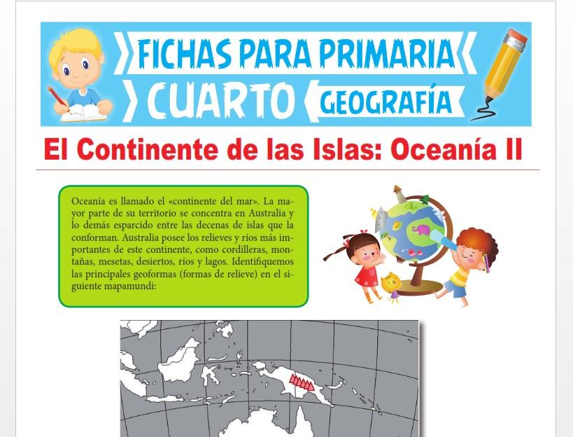 Ficha de Países de Oceanía para Cuarto Grado de Primaria