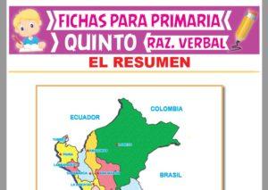 Ficha de Pasos para Hacer un Resumen para Quinto Grado de Primaria