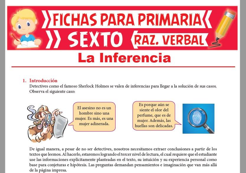 Ficha de Pasos para Inferir para Sexto Grado de Primaria