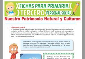 Ficha de Patrimonio Natural y Cultural para Tercer Grado de Primaria