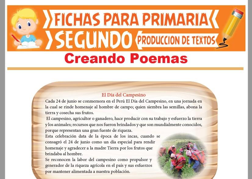 Ficha de Poema por el Día del Campesino para Segundo Grado de Primaria