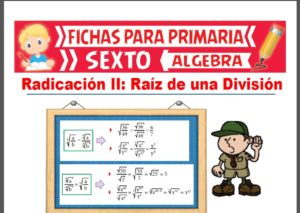 Ficha de Raíz de una División para Sexto Grado de Primaria
