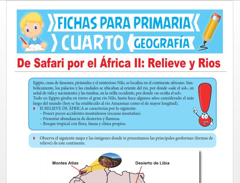Ficha de Relieve y Principales Ríos de África para Cuarto Grado de Primaria
