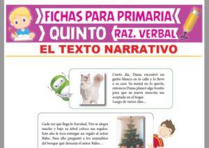 Ficha de Textos Narrativos para Quinto Grado de Primaria