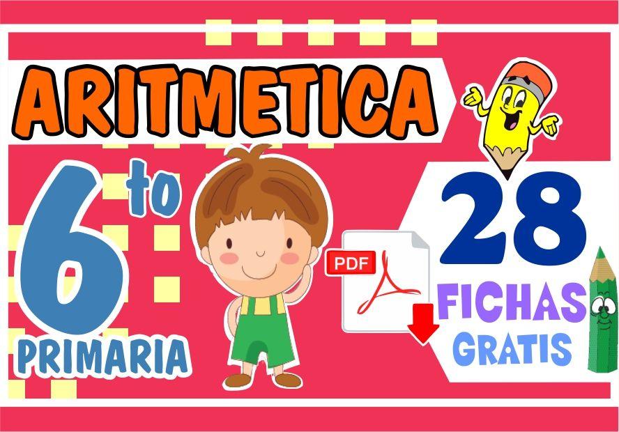 Aritmetica Ejercicios para Sexto Grado de Primaria