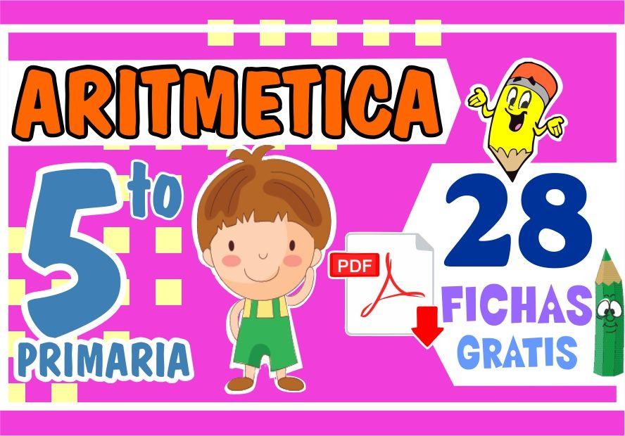 Separatas de Aritmetica para Quinto Grado de Primaria
