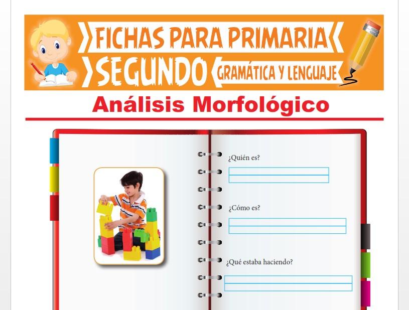 Ficha de Actividades de Análisis Morfológico para Segundo Grado de Primaria