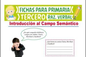 Ficha de Actividades del Campo Semántico para Tercer Grado de Primaria