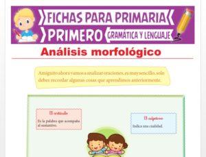 Ficha de Análisis Morfológico para Primer Grado de Primaria