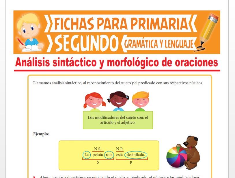 Ficha de Análisis Sintáctico y Morfológico de Oraciones para Segundo Grado de Primaria