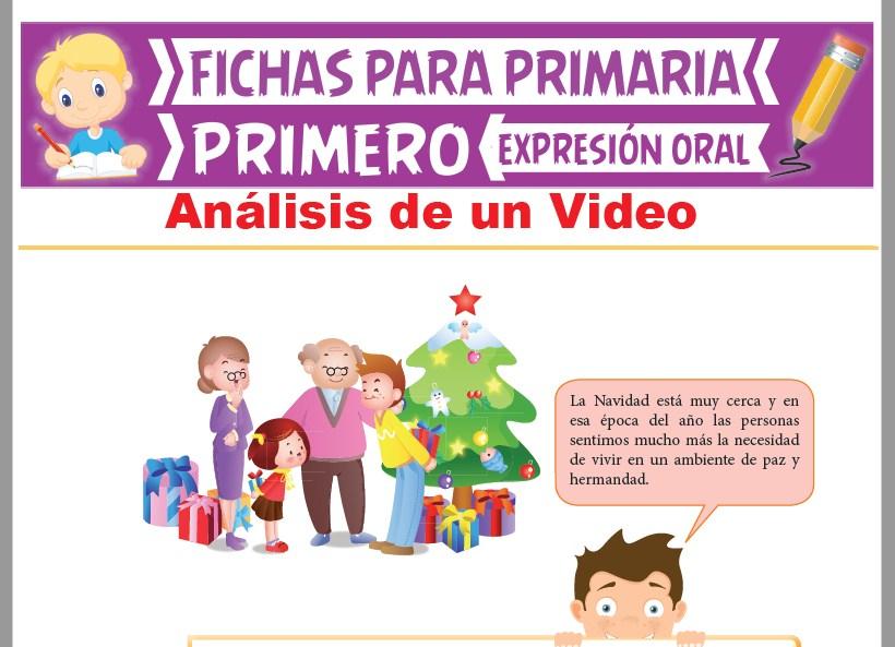 Ficha de Análisis de un Vídeo para Primer Grado de Primaria