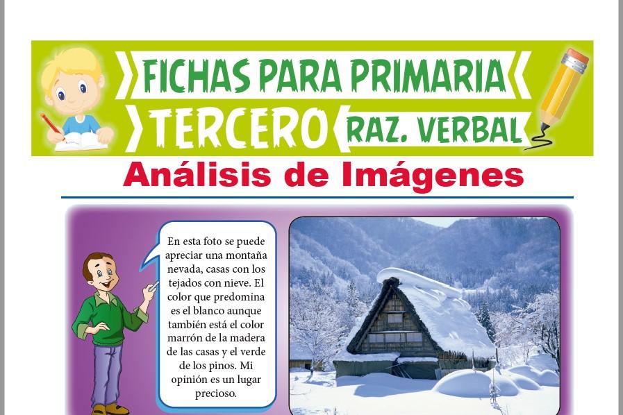 Ficha de Analizando las Imágenes para Tercer Grado de Primaria