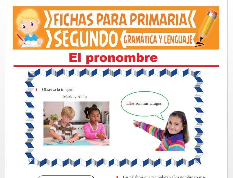 Ficha de Aprendiendo sobre el Pronombre para Segundo Grado de Primaria
