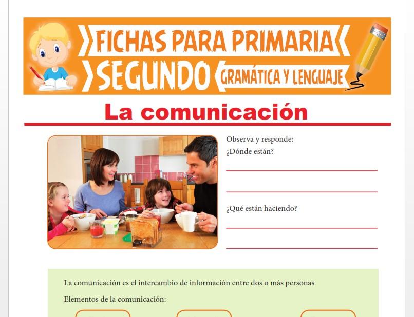 Ficha de Aprendiendo sobre la Comunicación para Segundo Grado de Primaria