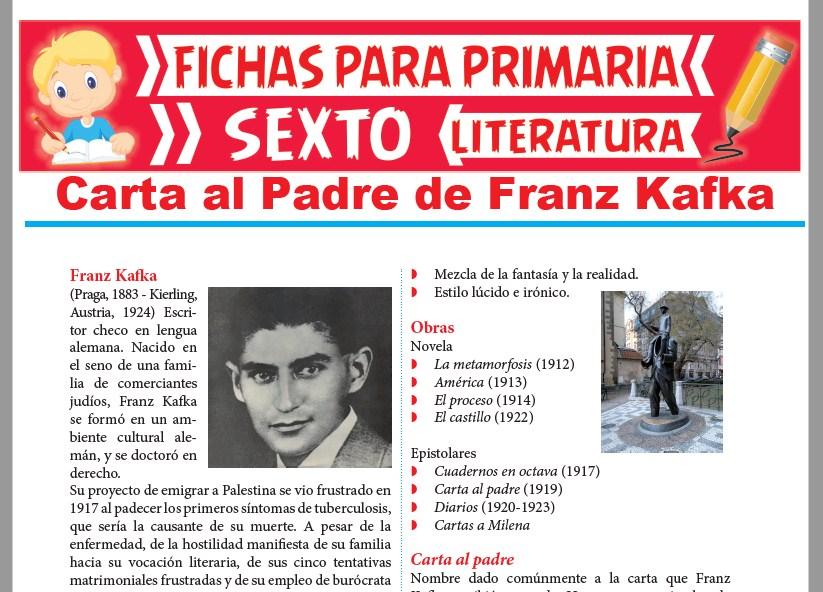 Ficha de Carta al Padre de Franz Kafka para Sexto Grado de Primaria