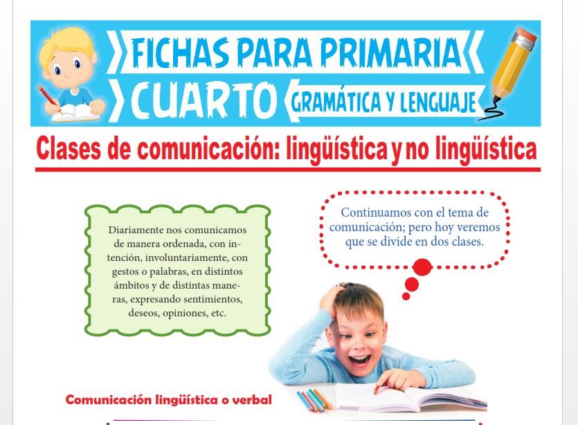 Ficha de Clases de Comunicación para Cuarto Grado de Primaria