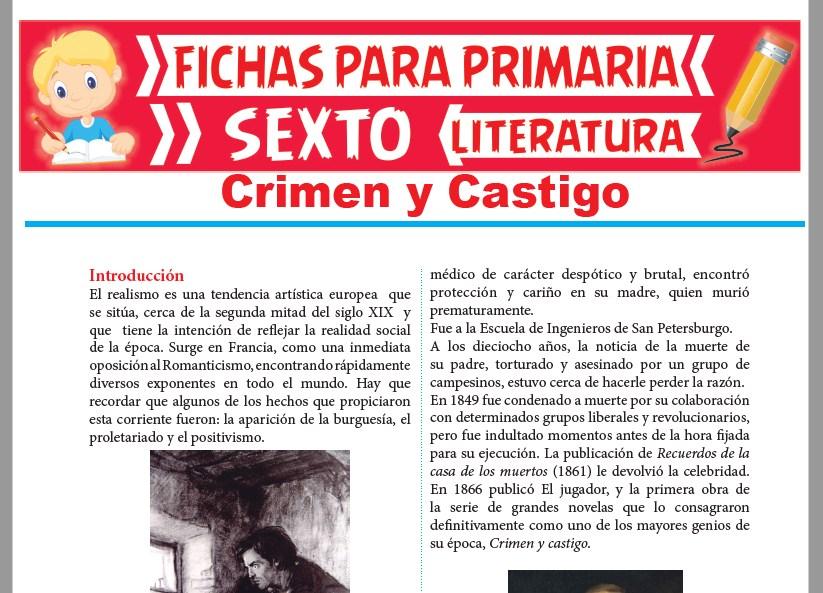 Ficha de Crimen y Castigo para Sexto Grado de Primaria