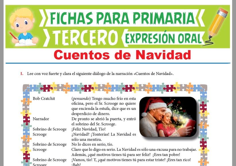 Ficha de Cuentos de Navidad para Tercer Grado de Primaria