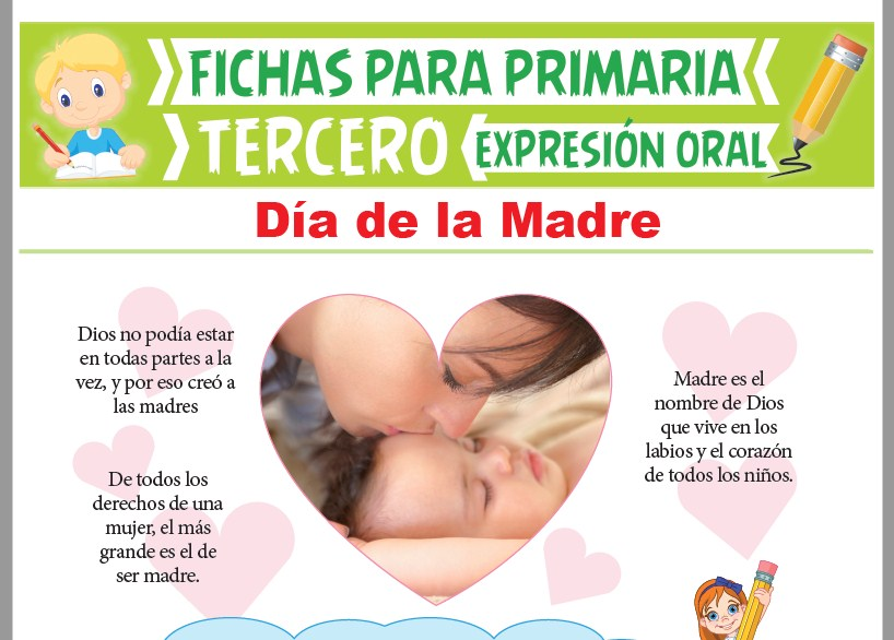 Ficha de Día de la Madre para Tercer Grado de Primaria